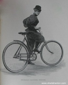 Maria Ward, Bicycling for Ladies, Incorrect Mounting Position