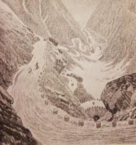 The Pennells cross St Gotthard Pass, Italy