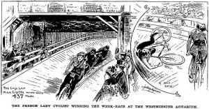 1896 Race at The Royal Aquarium, www.sheilahanlon.com