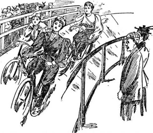1895 Race at the Roya Aquarium, www.sheilahanlon.com
