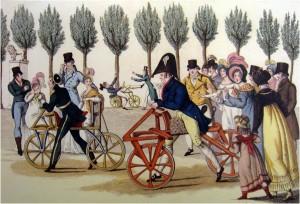 Draisiene Demo_Luxembourg Gardens, 1818