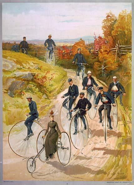 High wheel painting_1887