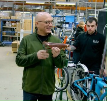 Gregg Wallace at Brompton Factory